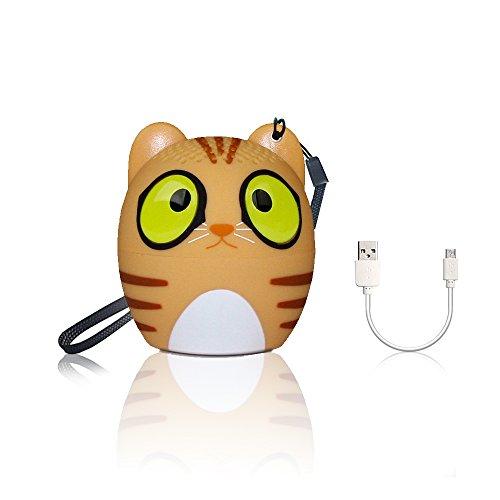 Takni altoparlante bluetooth portatile wireless diffusore tascabile a forma di animale senza fili mini speaker bluetooth, raggio di connessione bluettoth di 10 metri per iphone, nexus e altri, tigre