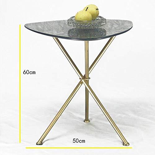Laptopständer DD Stilvolle klar gehärtetes Glas kleine Beistelltisch Chrom-Finish Wohnzimmer Möbel, Gold -Werkbank -