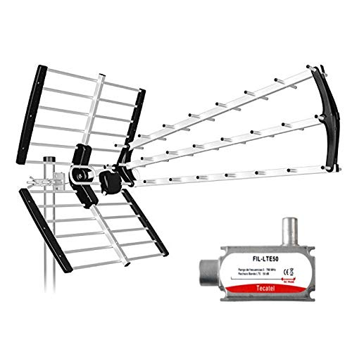 Tecatel ANT-BKM18B - Antena BKM Triple Plegable, Color Negro