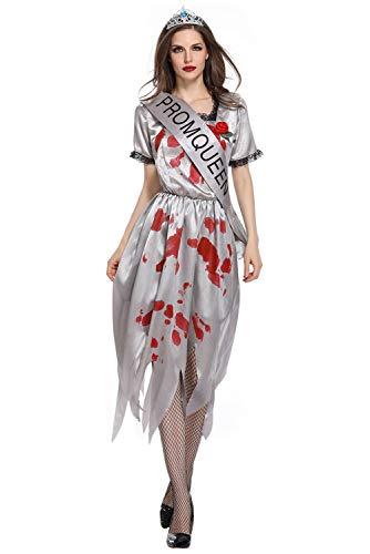 Tollstore Geister Braut Kostüm Zombie Braut Halloween Damen Kostüm Chucky Halloweenkostüm Damenkostüm M
