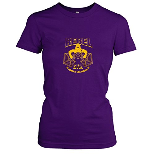 TEXLAB - Rebel Gym - Damen T-Shirt, Größe XL, violett