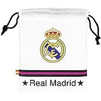 Preisvergleich für Kinder Lunch-Tasche / Brotzeit-Tasche mit Kordelzug, Real Madrid CF Design