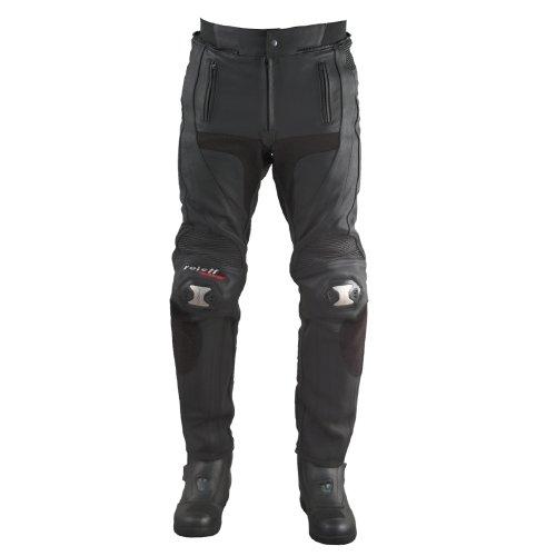 Roleff Racewear Pantalón de Cuero Racestyle, Negro, 52