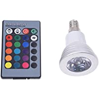 TOOGOO(R) E14 3W RGB LED Spot Light Bulb 230V + Remote