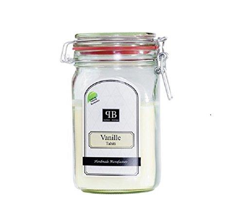 Parfüme Boutique 1112443 VT Vintage Vintage Verre – XL – Parfum Vanille Tahiti Bougie parfumée dans Verre, Blanc, 13 x 13 x 18 cm