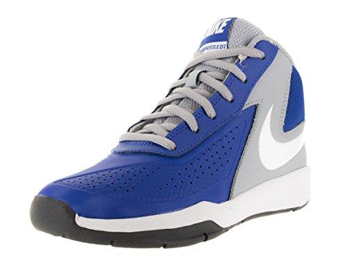 Nike Team Hustle D 7 (Ps), Chaussures de Sport-Basketball Garçon Bleu / blanc / gris / noir (bleu roi match / blanc - gris loup - noir)