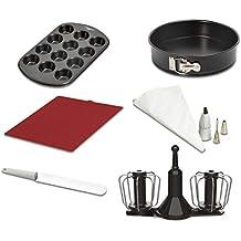 Moulinex XF389010 - Accesorios Cuisine Companion, kit repostería, varillas de doble rotación, manga