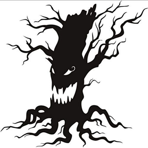 Myvovo Adesivi Murali Albero Scary Halloween Infestata Growl Stagionale Home Decor Art Decalcomanie Non Tossico Pvc Carta Da Parati Di Alta Qualità Murale 50 * 50Cm