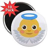 CafePress Magnet, Motiv: Baby Angel Emoji, 5,7 cm, 10 Stück