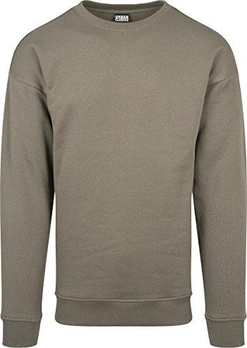 Urban Classics Herren Sweatshirt Sweat Crewneck Grün (Army Green 1144)