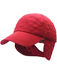 Outfly Plaid Gorras de béisbol Plegable Earflaps Sombreros Pareja Estilo