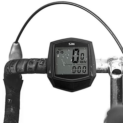 Betuy Fahrradcomputer verdrahtet 15 Funktionen wasserdichte LCD Geschwindigkeit Fahrradtacho Radcomputer Tacho für Radsport Realtime Speed Track