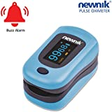 Newnik PX701 Fingertip Pulse Oximeter with Audio-Visual Alarm (Light Blue)