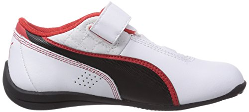 Puma Drift Cat 6 L V Unisex-Kinder Sneakers Weiß (white-black-high risk red 08)