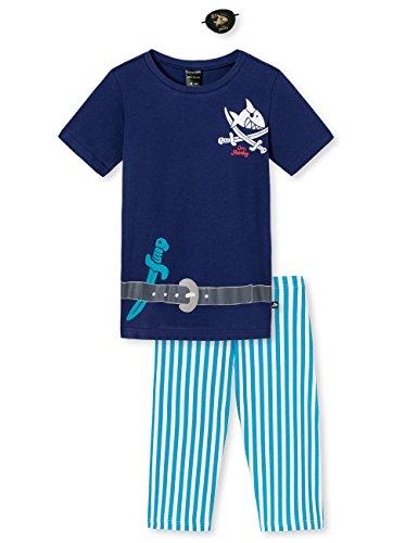 Schiesser Jungen Zweiteiliger Schlafanzug Kn Anzug Kurz, Blau (Blau 800), 104