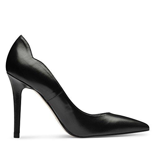 Zapatos Evita, Tacones De Mujer Negro (negro)