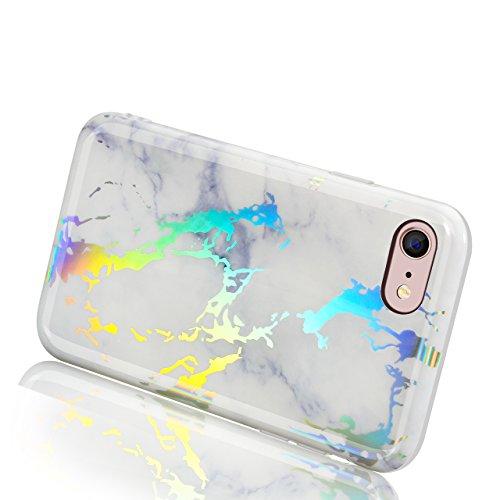 Vandot Cover per iPhone 6 Plus / 6s Plus 5.5 Pollice - Custodia rigida in plastica per cellulare - Marble case back cover Design marmo ,in TPU [Anti Graffi][Ultra Slim] Marble,Modello Marmo Candy Sili model 14