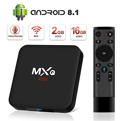 Android 8.1 TV Box, Superpow Smart TV Box Quad Core 2GB RAM+16GB ROM, 4K*2K UHD H.265, HDMI, USB*2, WiFi Media Player, Android Set-Top Box con Voice Remote Control