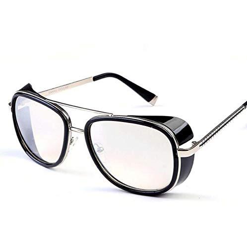 Sunny Beam (Second Sunny Fashion Twin-Beams Classic Metallrahmen Sonnenbrillen Herren Sonnenbrillen Damen Vintage Retro Fashion UV400,Style8)