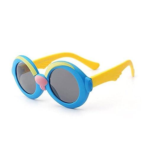 HJXJXJX Jungen und Mädchen Persönlichkeit Silikonmaterial Brillenfassungen Glasrahmen Kind Tong Pingguang Spiegel , A