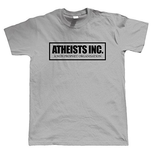 Vectorbomb, Atheisten Inc Lustige T Shirt Für Herren - grau, X-Large