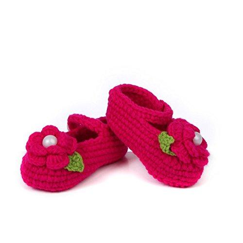 3504eb27d Zorux - Zapatos de crochet para bebé, hechos a mano, chaqueta de ganchillo,