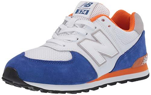 New Balance Jungen GC574NSD Sneaker White/Blue), 35.5 EU -