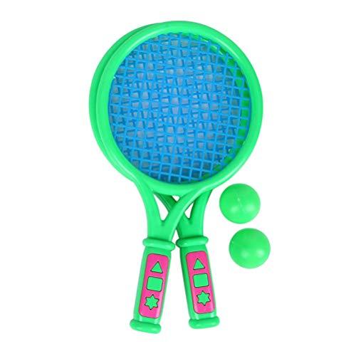 REYOK Racchetta da Tennis per Bambini, 4pcs Set di Racchettoni da Spiaggia, 2 Racchette e 2 Palline, per Ragazzi e Ragazze Gioco di Sport All'aperto