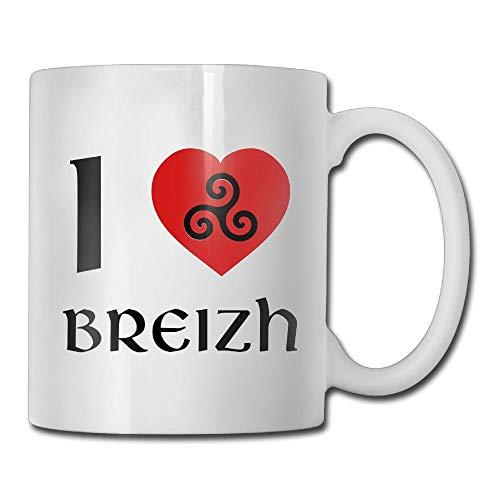 Daawqee Becher Coffee Mug New Brittany/Breizh/Bretagne Mugs Funny Ceramic Coffee Tea Cups, Double-Side Printing, 11oz (Den Mittelstücke Für Ruhestand)