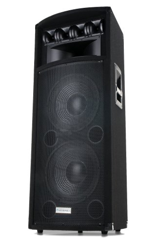 "McGrey PowerDJ 2-Etagen DJ PA Lautsprecher Box 2x 30cm (12"") Subwoofer 800W (Passiv, 2-Wege System, Holzgehäuse)"