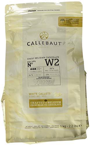 CALLEBAUT Weiße Schokolade, Kuvertüre,  Callets, 28% Kakao, 1kg