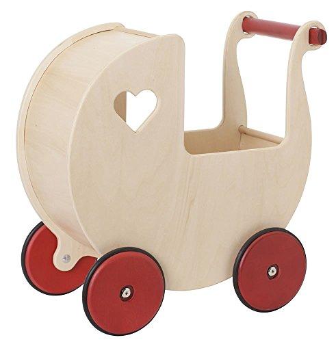 Preisvergleich Produktbild Moover Toys Puppenwagen, natur