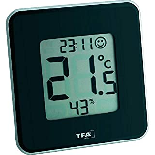 TFA Dostmann Style digitales Thermo-Hygrometer, 30.5021.01, zur Raumklimakontrolle, schwarz (B003ZK3HJS) | Amazon Products