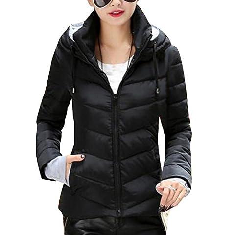 Zhhlaixing Manteau de mode Colorful Womens Short Style Hooded Design Cotton Suits Slim Fit Winter