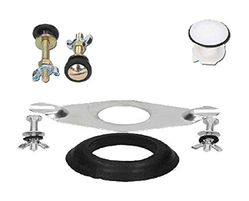Croydex ff050100Kit di fissaggio valvola di scarico universale, colore: bianco/nero/argento