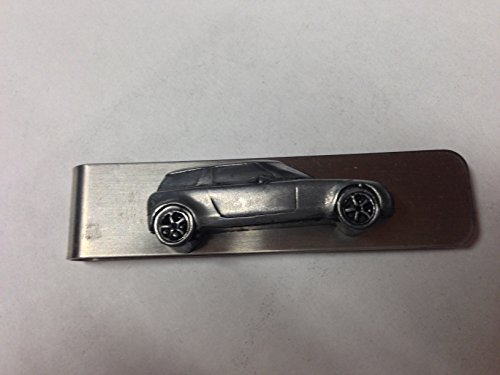 stainless-steel-money-clip-with-a-saab-9x-2002-ref234-3d-pewter-effect-emblem