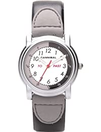Cannibal Unisex Quartz Watch with White Dial Analogue Display and Black Plastic or Pu Strap CT202-03