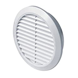 Circle Air Vent Grille Cover 100mm (4inch) Ducting White High Quality Abs Plastic