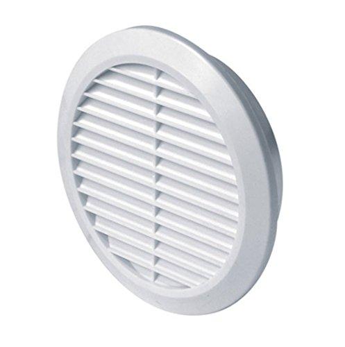 MKK Ø 100 mm Grille de ventilation ronde blanche en plastique avec moustiquaire Grille d'évacuation Air entrant Air évacué Grille Ventilation