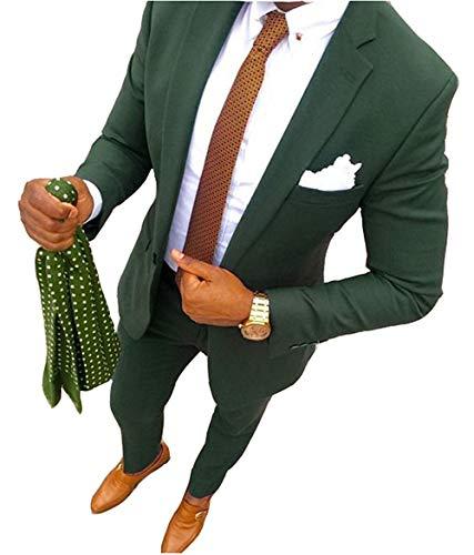YSMO Herren 2 Stück Anzüge Slim Business Anzug Männlich Mantel
