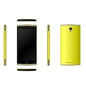 """Leagoo Elite 5 Téléphone Mobile 4G 5.5"""" Pouces Sous Android 5.1 HD Smartphone Téléphone FDD-LTE WCDMA GSM 1.0GHz 64 bits Quad Core Dual SIM Double Veille Caméras 13.0MP 8.0MP GPS Bluetooth 4.0 WiFi 2GB 16GB, Jaune"""