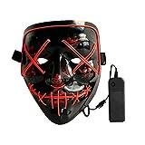 LAEMILIA Maske LED Light EL Wire Erwachsenen Cosplay Purge Mask Festival Fashing Karneval Party Haslloween Kostüm Verkleiden Zubehör