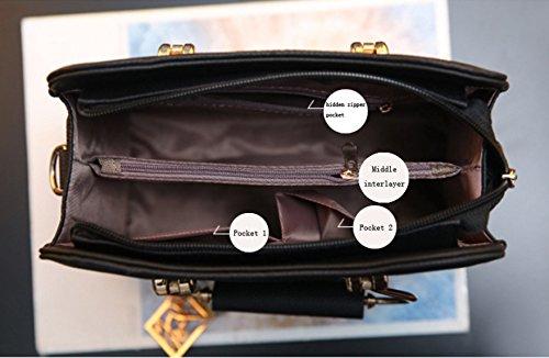 Addora Moda Cuoio Multi Colori Cerniera Borsa Delle Signore Shoulder Bag Messenger Piccola Piazza Cartella ArmyGreen