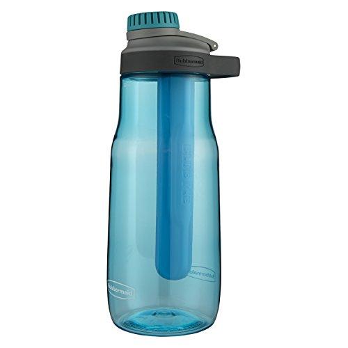 Rubbermaid auslaufsicher Chug Wasser Flasche mit Blau Ice Stick 32 oz Aqua Waters - Aqua-wasser-flasche