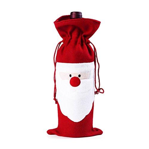 Zugschnur-wein (BESTOYARD Weihnachts-Sankt-Zugschnur-Wein-Flaschen-Beutel-Geschenkverpackung)