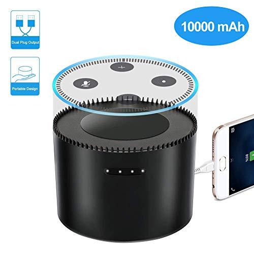 LYPULIGHT Echo Dot 2 Akku, Intelligente Batterie-Basis für die 2. Echo Dot-Generation, 10000 mAh Energien-Bank K12 Tragbare Ladegeräte für Echo Dot Android Apple-Geräte