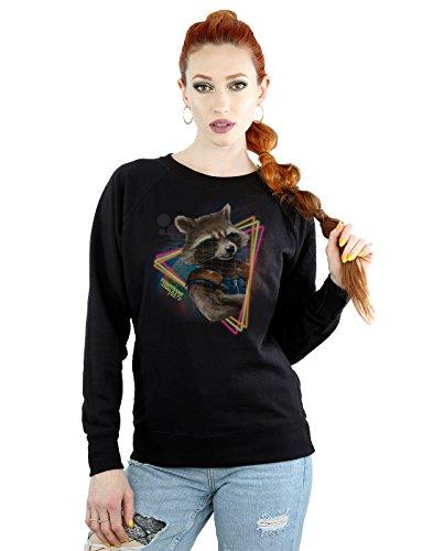 Marvel Damen Guardians of the Galaxy Neon Rocket Sweatshirt Medium Schwarz