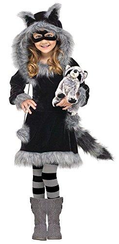 6370bfa40c5d4c Mädchen Kostüm - Waschbär Fuzzy