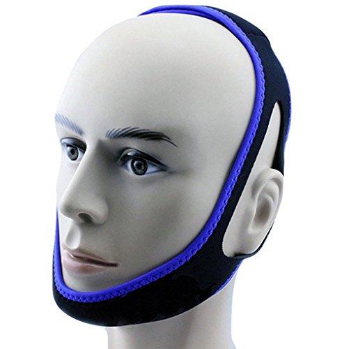 Stop Schnarchen Kinnriemen Justierbare Beste Schnarchen-Lösungen (Gesichtskorrekturgurt),Blue