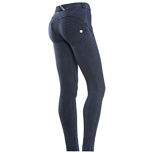FREDDY WR.UP® SKINNY VITA REGULAR IN COTONE TINTO CAPO (WRUP1RC02E) Blu scuro